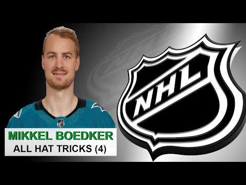 All 4 Hat Tricks by Mikkel Boedker