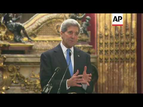 Kerry discusses effects of climate change