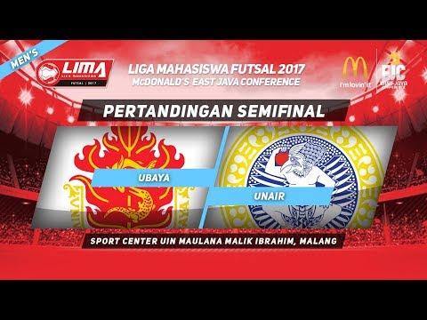 UBAYA vs UNAIR di SEMIFINAL LIMA Futsal McDonald's East Java Conference 2017 (Men's)