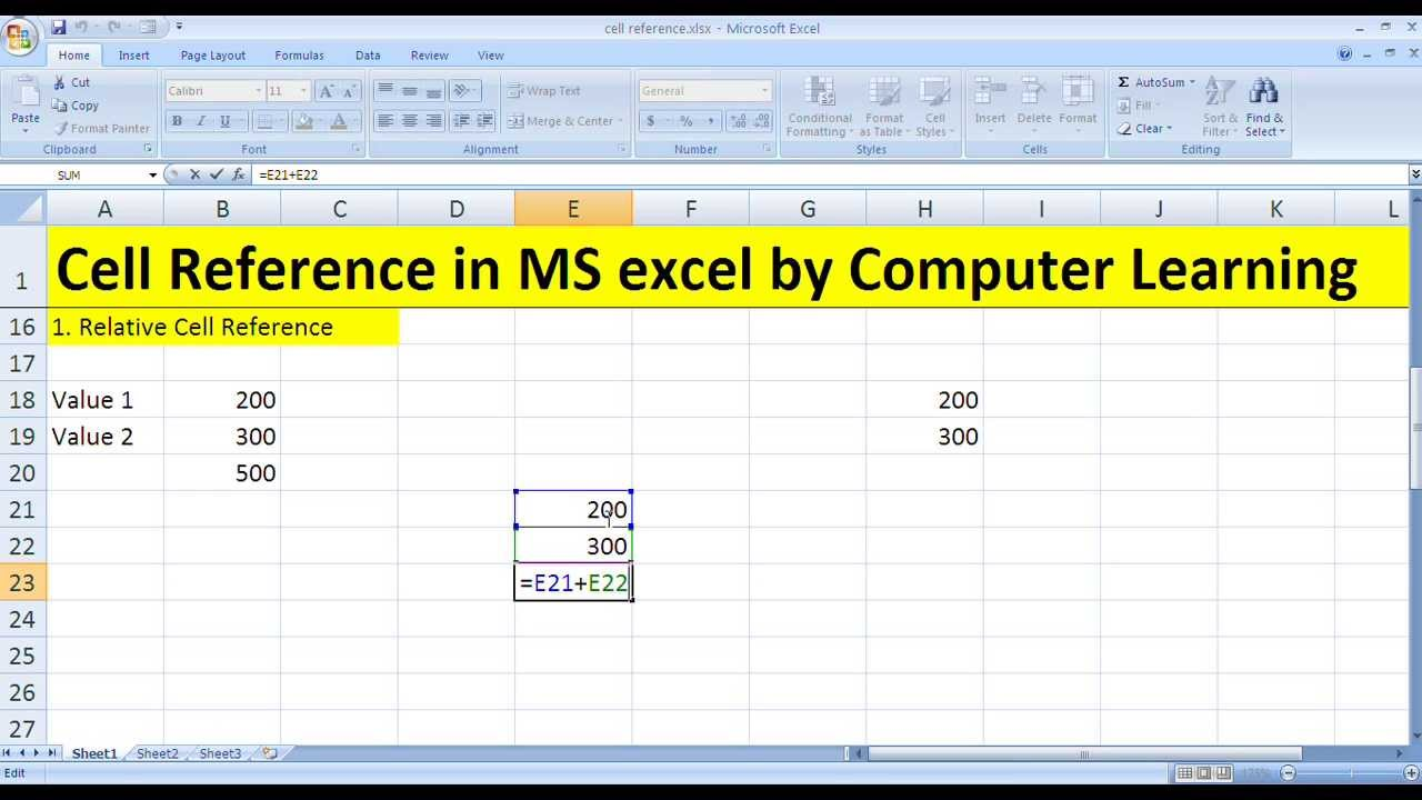 cell reference of ms excel in hindi language youtube