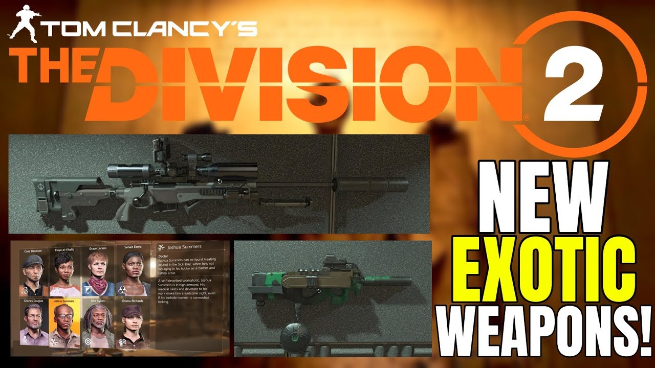 The Division 2 Weapons - Chatterbox, Pestilence Guide, All