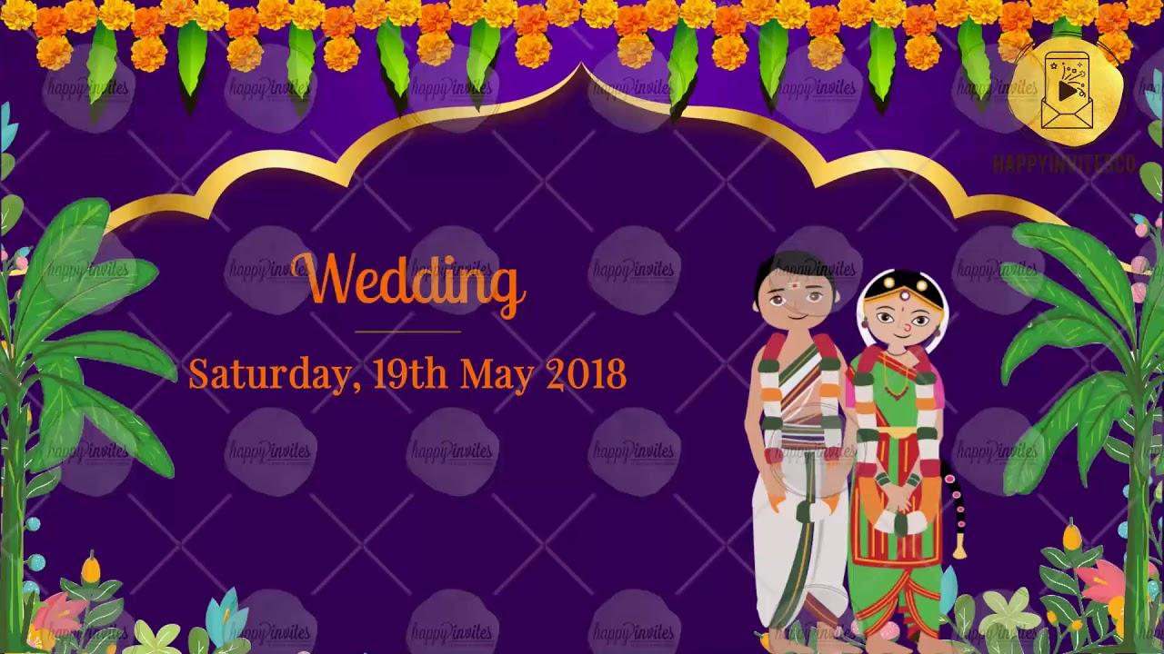 South Indian Wedding Invitation 5