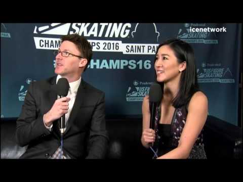 Michelle Kwan 2016 US Nationals Interview - Hillary Clinton, Shibutani win Ice Dance