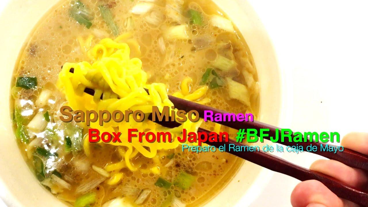 Box From Japan Sapporo Miso Ramen Youtube