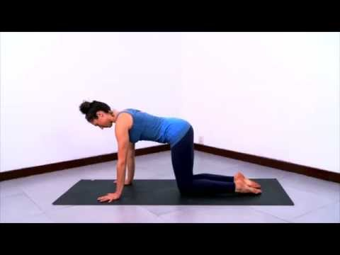 therapeutic yoga sequence for neck  shoulder tension