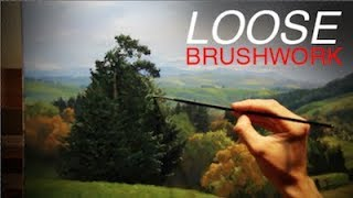 How to paint a LANDSCAPE - Loose Brushwork and Limited Palette