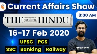 8:00 AM - Daily Current Affairs 2020 by Bhunesh Sir | 16-17 February 2020 | wifistudy
