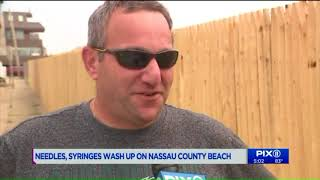 Beach closed after hypodermic needles wash ashore on Long Island
