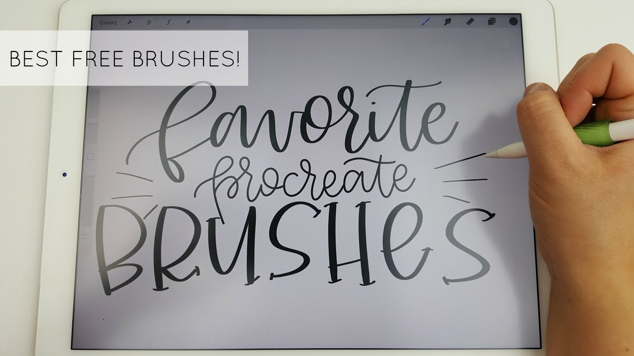 Drawing Straight Lines With Procreate : Best free brushes for procreate app my absolute favorites youtube