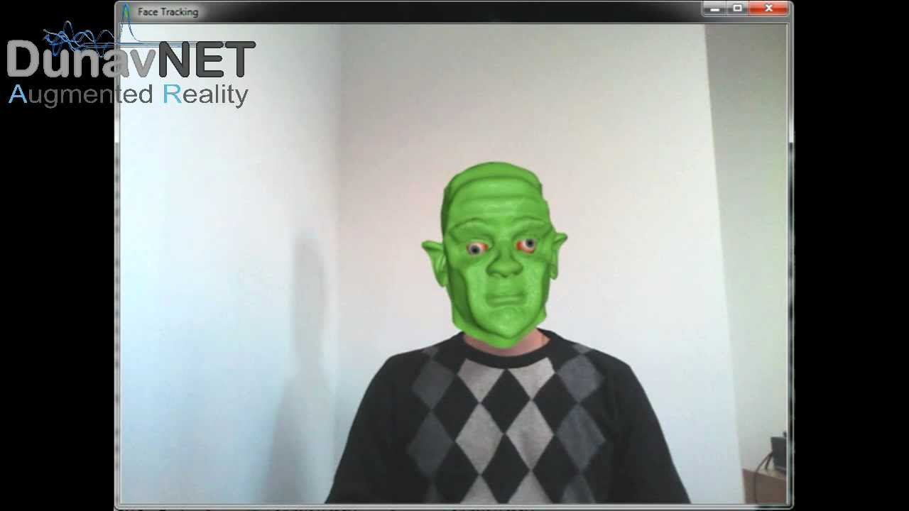 DunavNET - AR ( Face tracking demo) mp4