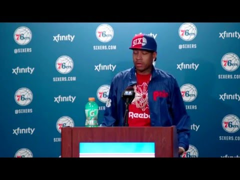 Allen Iverson Hall of Fame FULL Press Conference (2016) *emotional & funny