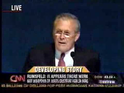 Rumsfeld Called Out On Lies About WMD