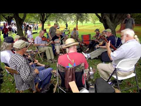 Music circle at the Lyons Fiddle Festival