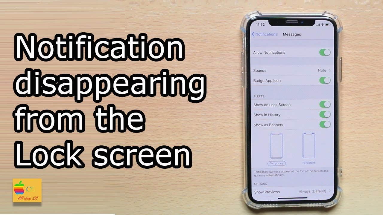 sms notification disappearing from the lock screen of your