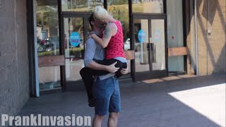Kissing Prank  - YOGA PANTS EDITION - PrankInvasion 2015