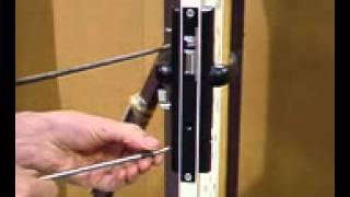 hills aluminium screen door how to reset a lock