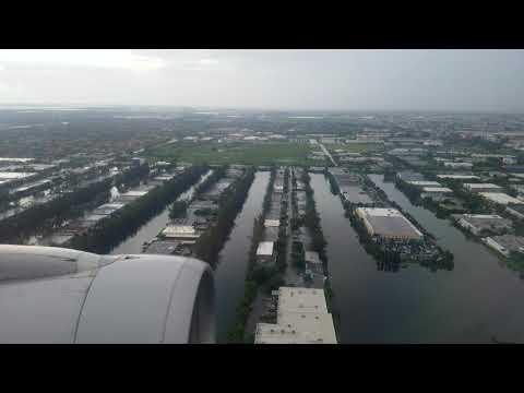 Aa961 A319 Landing Miami International from Tegucigalpa , Toncontin Airport