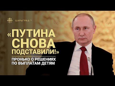 «Путина снова подставили!» Пронько о решениях по выплатам детям