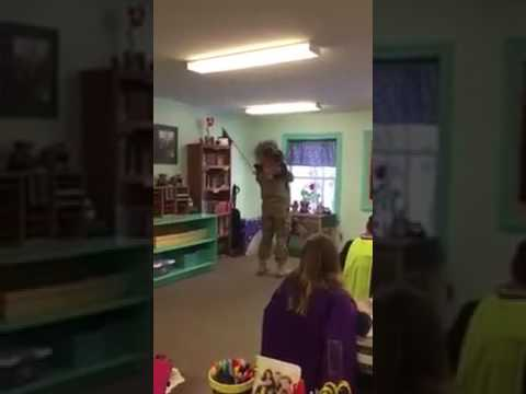 Durham dad returns from deployment, surprises his children at school