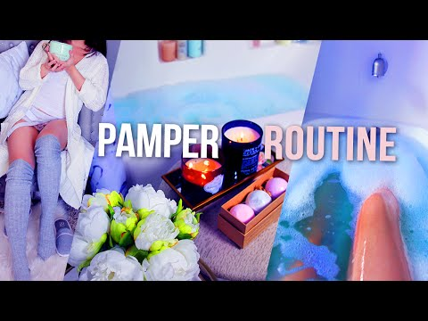 MY PAMPER ROUTINE🌙 Bath,Skincare, Haircare & Snack DIY // lilisimply