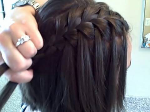 The Waterfall Braid Diy Cute Girls Hairstyles Youtube
