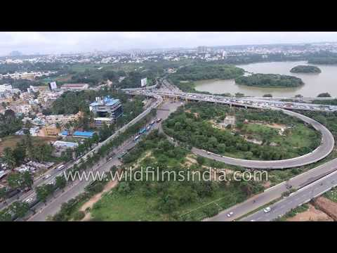 Hebbal Flyover aerial view from Bangalore