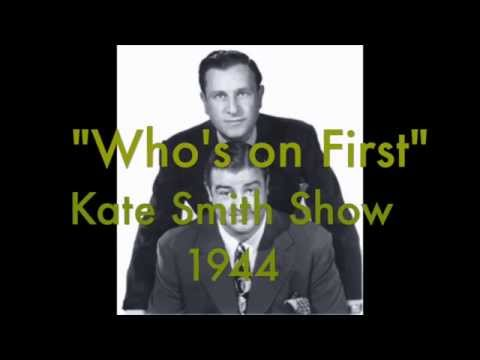 Kate Smith Show - Who's On First?