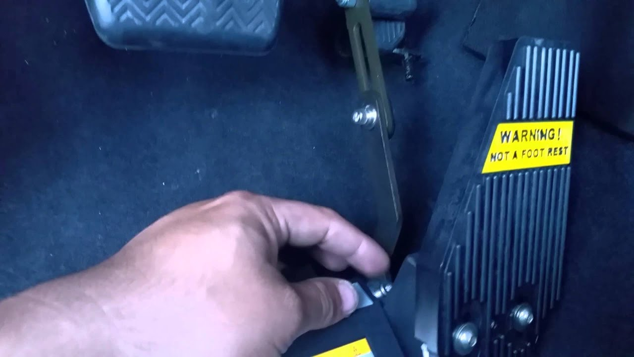 Mps left foot gas pedal install