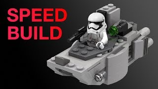 LEGO First Order Transporter Microfighter MOC Speed Build Star Wars