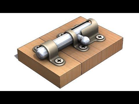 Solidworks Tutorial 309 Door Lock Sheet Metal Fold