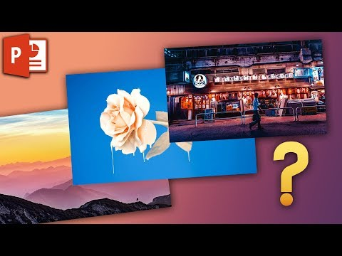 PowerPoint Multiple Photos At Once - How To Make Photo Collages ✔