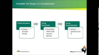 الاستبيان في Microsoft Dynamics AX 2012