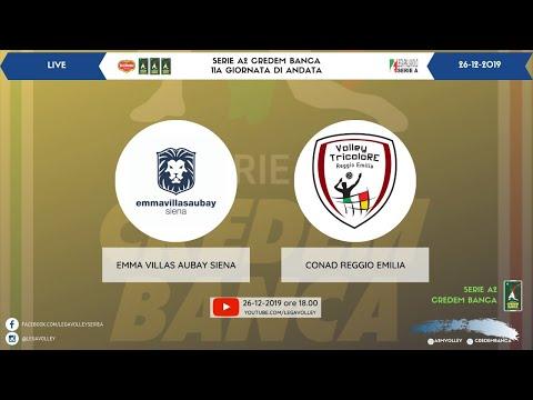 26-12-2019: (11a A2 Credem Banca) - Emma Villas Aubay Siena - Conad Reggio Emilia