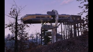 Fallout 76 camp build around monorail.