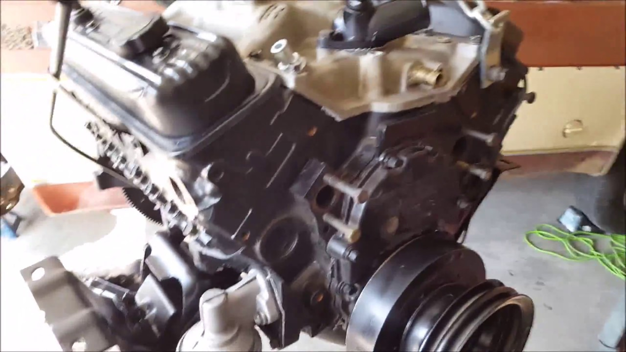 motor swap vortec 350 into a 1977 square body gmc [ 1280 x 720 Pixel ]