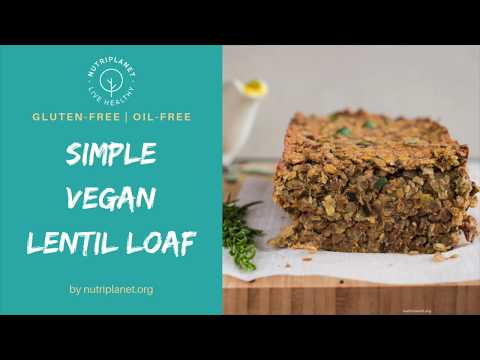 Simple Vegan Lentil Loaf [Gluten-Free]