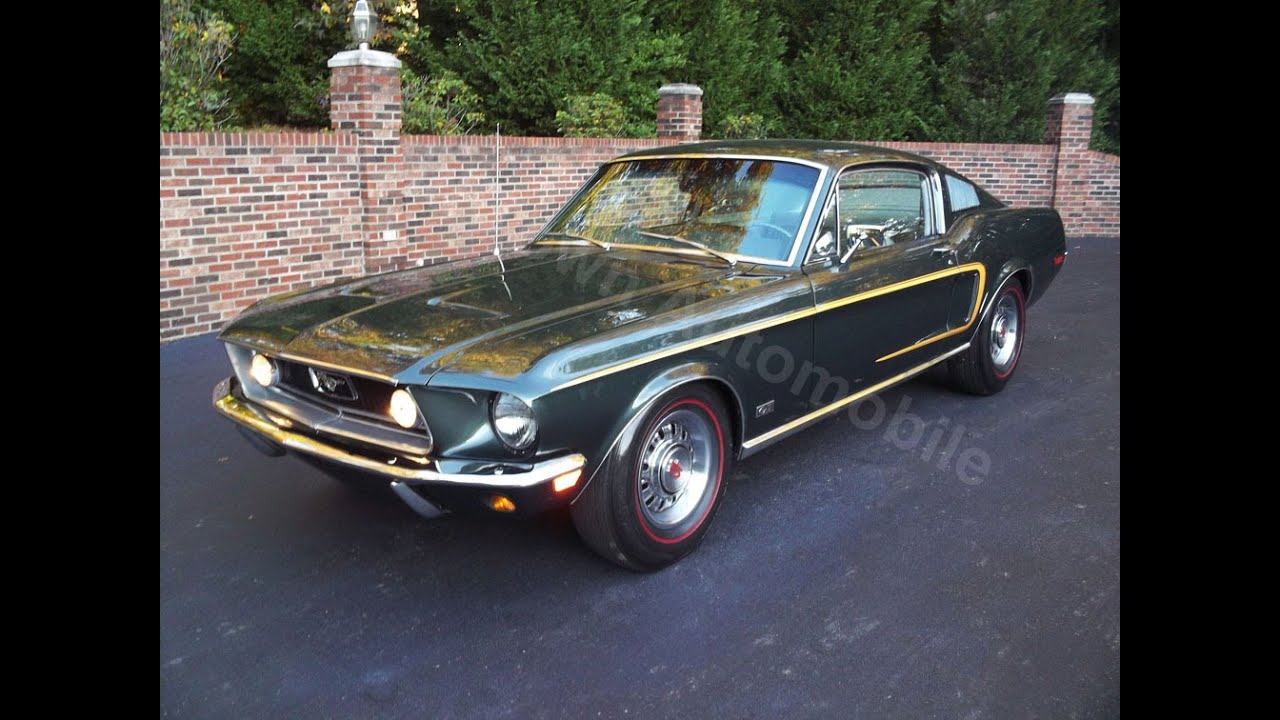1968 Mustang GT J Code Fastback For Sale Old Town Automobile In Maryland