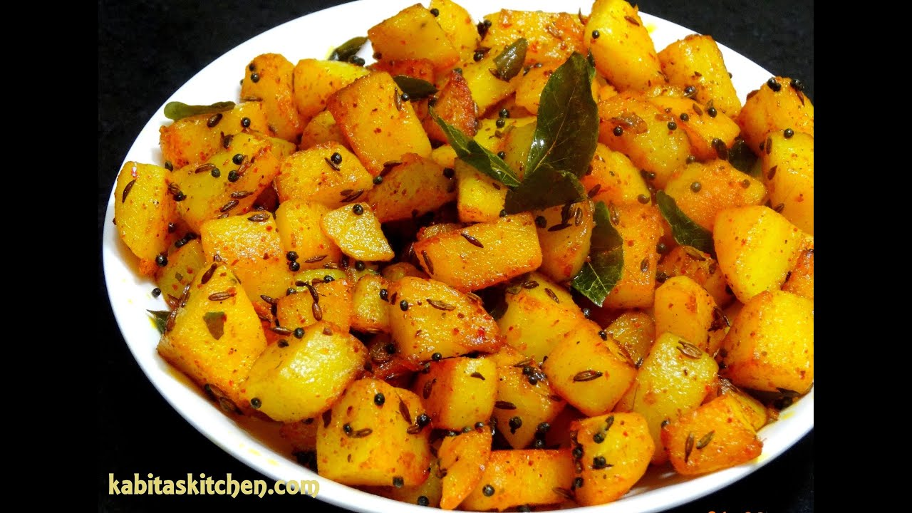 aloo fry recipe simple potato fry for lunch box easy and