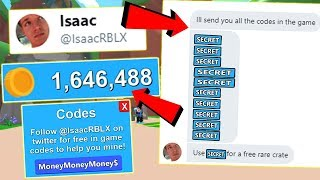 (Code) OWNER GAVE ME ALL THESE SECRET MONEY CODES FOR ROBLOX MINING SIMULATOR! (Free $10.000's )