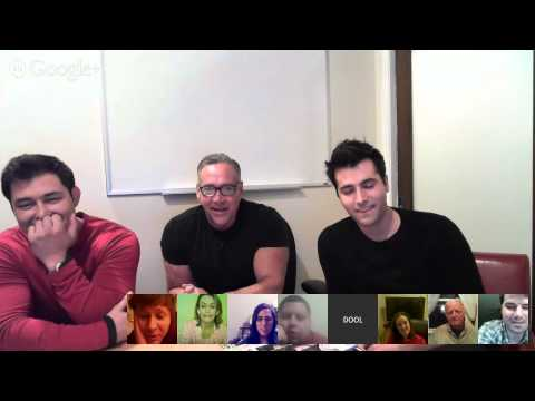 Google Hangout w/ Freddie Smith, Guy Wilson, and Christopher Sean