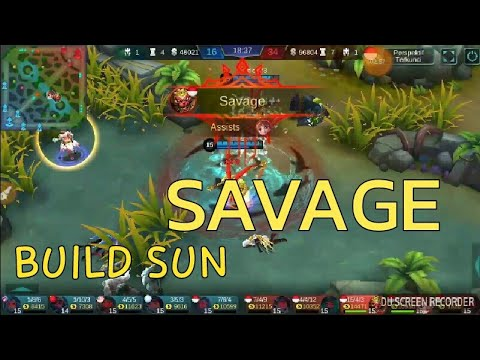 SUN SAVAGE #build sun mobile legend