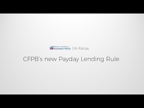 IN FOCUS: CFPB's New Payday Lending Rule