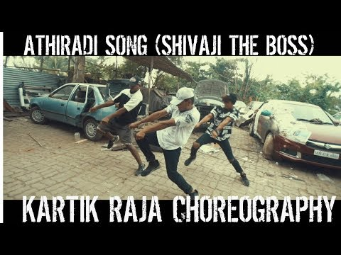 Athiradi Song | Sivaji The Boss | Dance Video | Kartik Raja Choreography | Rajini,Shriya