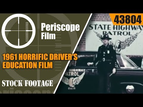 1961 HORRIFIC DRIVER'S EDUCATION FILM  MECHANIZED DEATH 4380
