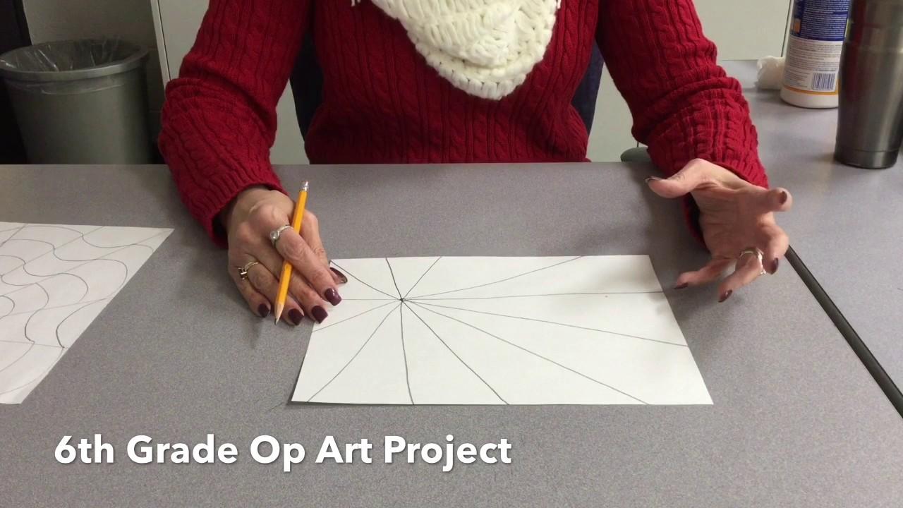 6th grade op art project youtube