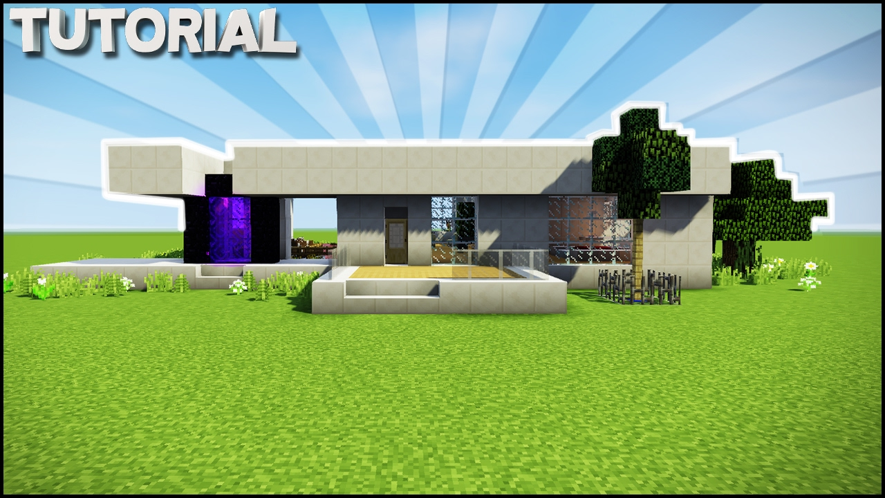 Minecraft How To Make The Ultimate Modern Survival House Youtube