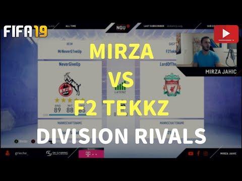 MIRZA VS F2 TEKKZ - BESIEGEN WIR DAS WUNDERKIND?   FIFA 19 ULTIMATE TEAM - DIVISION RIVALS