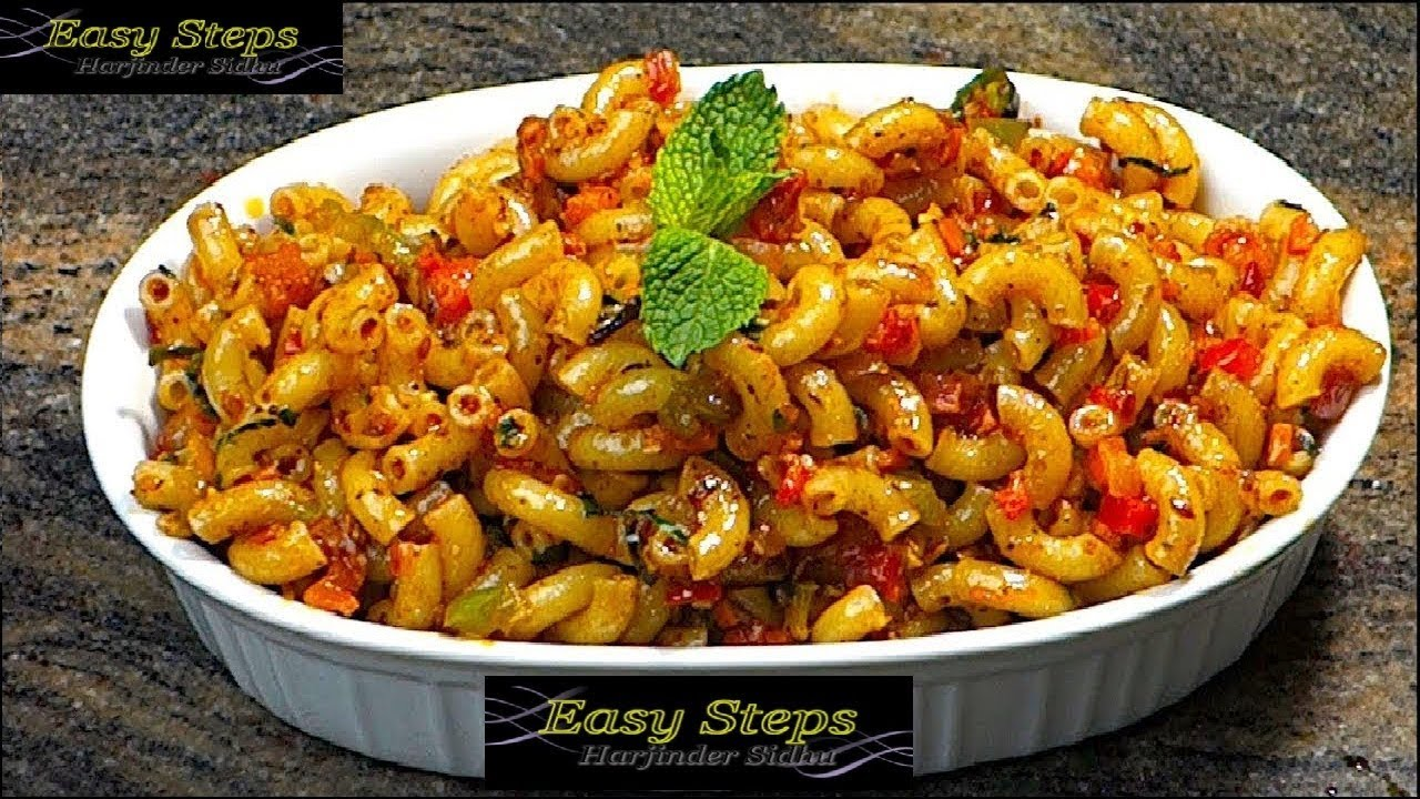 Recipes of pasta in indian style