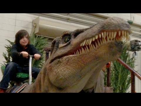 Thumbnail: Riding dinosaurs at Jurassic Quest!