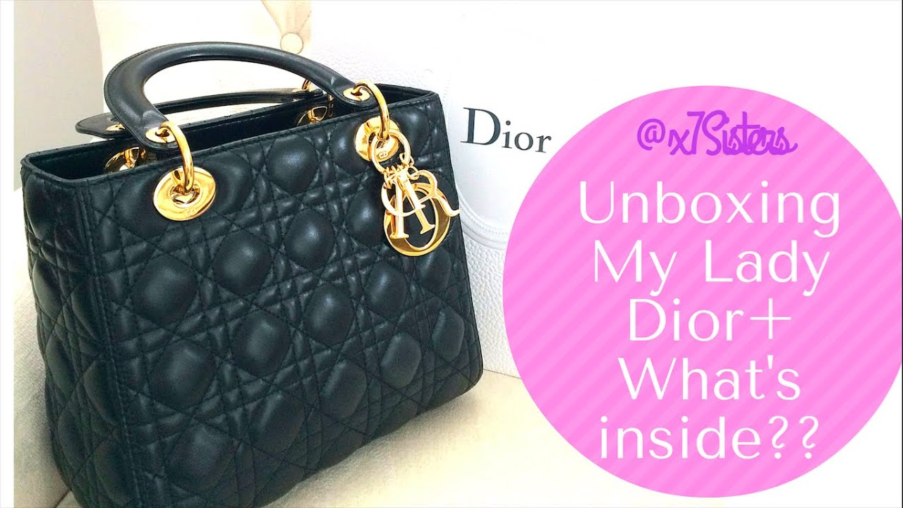 1ef76207e63a Unboxing My Lady Dior + what fits inside July 2016 - YouTube